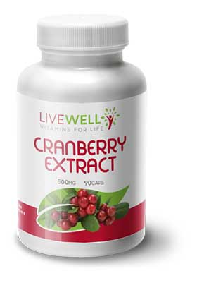 Live Well Cranberry branded supplements wholesale
