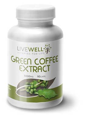 Live Well Green Coffee 5,000mg branded supplements wholesale